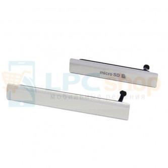 Комплект заглушек (USB+MicroSD) Sony Xperia Z2 D6503 Белый