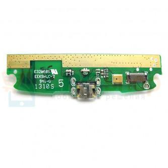 Шлейф разъема зарядки Lenovo S820 (плата)  микрофона и вибромотора