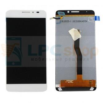 Дисплей для Alcatel OT-6043D (Idol X+) в сборе с тачскрином Белый