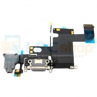 Шлейф разъема зарядки iPhone 6 и разъем гарнитуры / микрофон Серый цвет