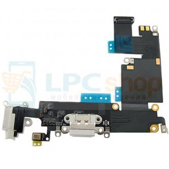 Шлейф разъема зарядки iPhone 6 Plus / разъем гарнитуры / микрофон Белый