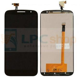 Дисплей для Alcatel OT-7050 (Pop S9) в сборе с тачскрином Черный