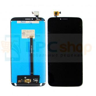 Дисплей для Alcatel OT-8030Y / OT-8030B (Hero 2) в сборе с тачскрином Черный