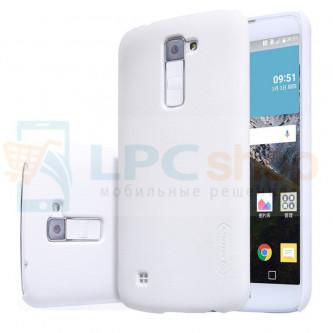 "Чехол накладка Nillkin ""Frosted"" для LG K10 K410 / K10 LTE K430DS - Белый"