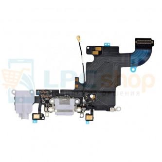 Шлейф разъема зарядки iPhone 6S и разъем гарнитуры / микрофон Светло-Серый