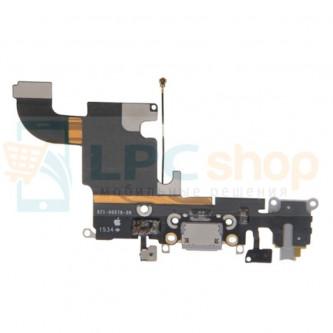Шлейф разъема зарядки iPhone 6S и разъем гарнитуры / микрофон Серый