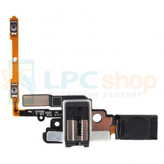 Шлейф Samsung Galaxy Alpha G850F на слуховой динамик / разъем гарнитуры / кнопки громкости