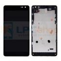 Дисплей Microsoft Lumia 535 (Rev. 2C) (RM-1090) с тачскрином в рамке Черный