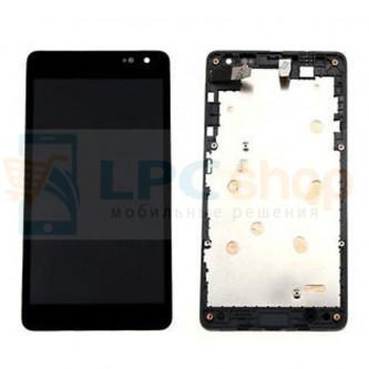Дисплей для Microsoft Lumia 535 (Rev. 2S) (RM-1090) с тачскрином в рамке Черный ОРИГИНАЛ