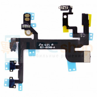 Шлейф iPhone SE на кнопку включения/кнопки громкости/микрофон/вспышка