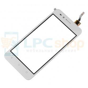 Тачскрин (сенсор) для Huawei Y3 II 3G LUA-U22 Белый (Изогнутый шлейф)