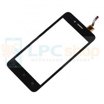 Тачскрин (сенсор) для Huawei Y3 II 3G LUA-U22 Черный (Изогнутый шлейф)