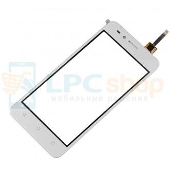 Тачскрин (сенсор) для Huawei Y3 II LTE Белый (Прямой шлейф)