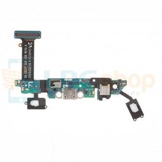 Шлейф разъема зарядки Samsung Galaxy S6 G920F (плата) и разъема гарнитуры / микрофона и кнопки HOME