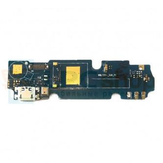 Шлейф разъема зарядки Highscreen Power Five (плата) и микрофона