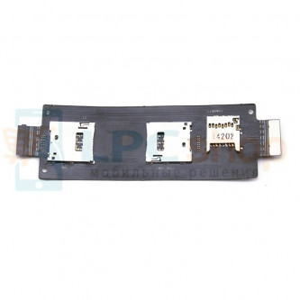 Шлейф Asus ZenFone 2 (ZE550ML / ZE551ML) / Zenfone 2 Laser ZE550KL на разъем SIM / MicroSD