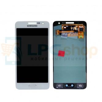 Дисплей для Samsung Galaxy A3 A300F в сборе с тачскрином Белый - Оригинал - AAA