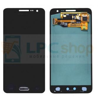 Дисплей для Samsung Galaxy A3 A300F в сборе с тачскрином Черный - Оригинал  - AAA