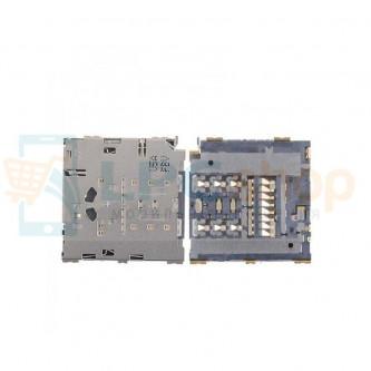 Коннектор SIM-Карты+MicroSD Samsung Galaxy A8 A800F