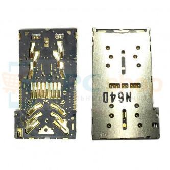 Коннектор SIM-Карты+MicroSD Sony Xperia X F5121 / X Dual F5122 / X Compact F5321