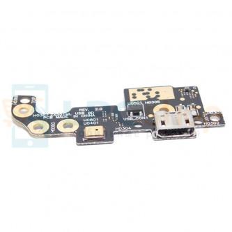 Шлейф разъема зарядки Asus ZX551ML (ZenFone Zoom) (плата) и микрофон
