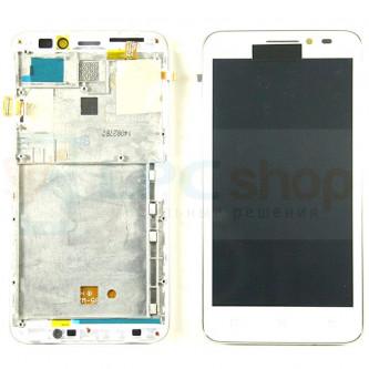 Дисплей для Lenovo A606 в сборе с рамкой Белый