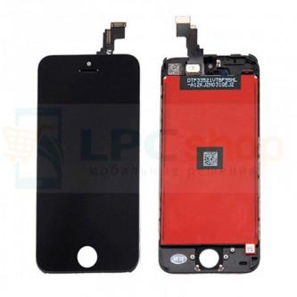 Дисплей для iPhone 5C в сборе Черный - AA