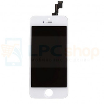 Дисплей для iPhone 5S / SE в сборе Белый - AA