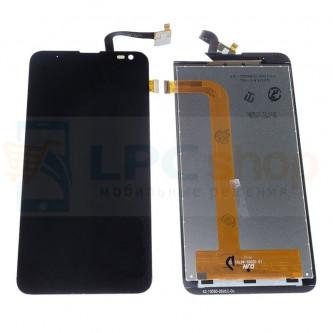 Дисплей Fly IQ4514 (Evo Tech 4) в сборе с тачскрином Черный