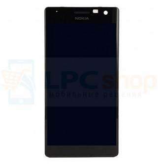 Дисплей для Nokia Lumia 730 Dual (RM-1040) / 735 (RM-1038) в сборе с рамкой Черный