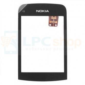 Тачскрин (сенсор) для Nokia C2-03 / C2-06 Черный