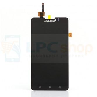 Дисплей для Lenovo P780 в сборе с тачскрином Черный