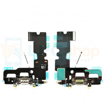 Шлейф разъема зарядки iPhone 7 и микрофона Серый