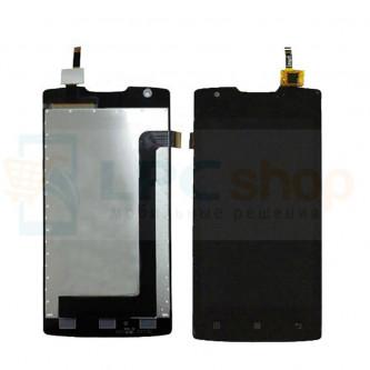 Дисплей для Lenovo A1000  в сборе с тачскрином Черный