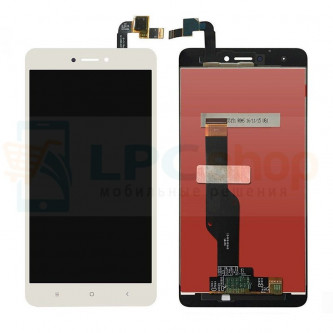 Дисплей для Xiaomi Redmi Note 4X в сборе с тачскрином Белый