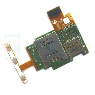 Шлейф Sony ST26i (J) на разъем SIM / MicroSD / кнопки громкости / кнопка включения