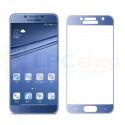 2,5D Защитное стекло (Full Screen) для Samsung A3 (2017) A320F (полное покрытие) Синее