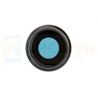 Стекло (для переклейки) камеры iPhone 8 черное