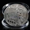 Монета Биткоин (BitCoin) сувенирная Серебро (не являются платёжным средством)
