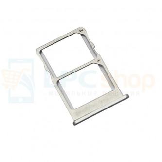 Лоток SIM Meizu MX6 Серебро