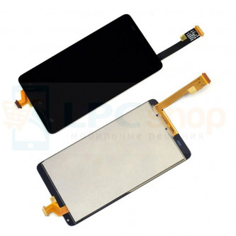 Дисплей для HTC Desire 400 Dual в сборе с тачскрином Черный