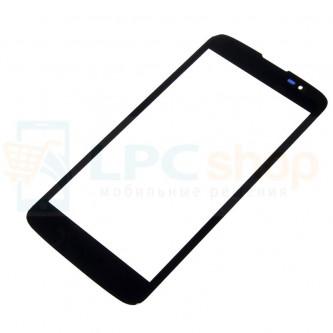Стекло (для переклейки) LG K7 X210DS Черное