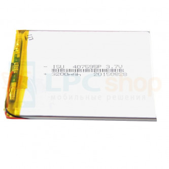 Аккумулятор универсальный 407595p 3,7v Li-Pol 3200 mAh (4*75*95 mm)