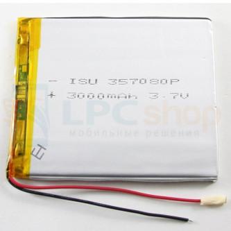 Аккумулятор универсальный 357080p 3,7v Li-Pol 3000 mAh (3.5*70*80 mm)