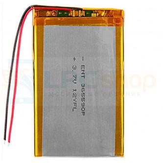 Аккумулятор универсальный 365590p 3,7v Li-Pol 2000 mAh (3.6*55*90 mm)