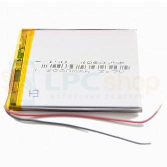 Аккумулятор универсальный 406075p 3,7v Li-Pol 3000 mAh (4*60*75 mm)