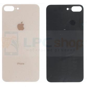 Крышка(задняя) iPhone 8 Plus (стекло) Золото