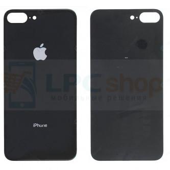 Крышка(задняя) iPhone 8 Plus (стекло) Черный