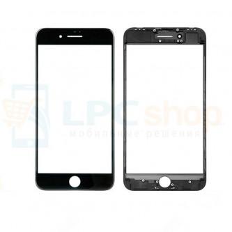 Стекло (для переклейки) iPhone 8 Plus в сборе с рамкой Черное
