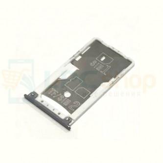 Лоток сим карты и карты памяти Xiaomi Redmi 4 Темно-Серый
